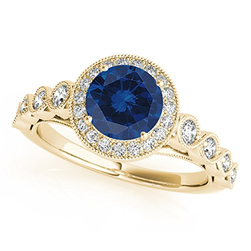 1 20 Diamond Sapphire Ring Yellow product image