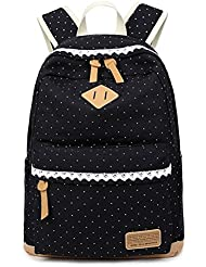 Canvas Backpack Rucksack Laptop Bag Casual Travel Daypack for Girls or Women