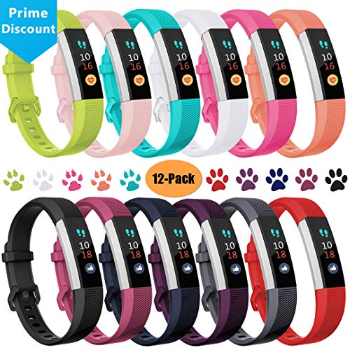 Ouwegaga Compatible for Fitbit Alta HR Bands, for Fitbit Ace Band for Kids Large Multi Color 12 Pack
