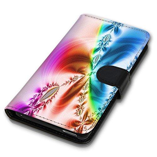 Wallet Book Style Flip Handy Tasche Case Schutz Hülle Schale Motiv Etui für Apple iPhone 5 / 5S - Design Flip MVD384