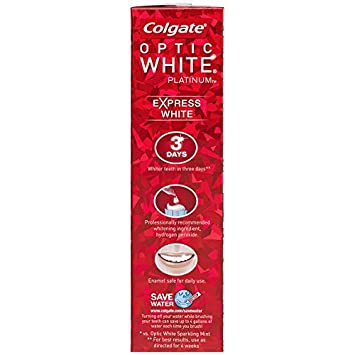 Colgate Optic White Express White Whitening Toothpaste – 3 ounce 6 Pack