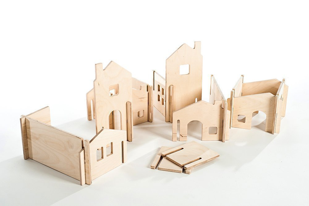 Modular Wood House Walls Building Toy