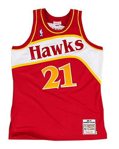 Mitchell & Ness Dominique Wilkins Atlanta Hawks Authentic 1986 Red NBA Jersey