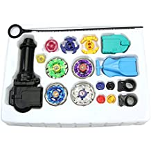 Delight eShop 1 box Japanese Metal Fusion Beyblade Full Set with Rare 4D Launcher