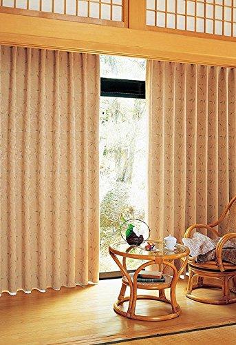 アスワン 日本の自然美を重ねた情緒あふれるカーテン カーテン2倍ヒダ E6185 幅:300cm ×丈:280cm (2枚組)オーダーカーテン 280  B0784WSR6F
