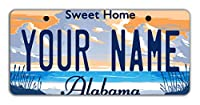 """BleuReign(TM) Personalized Custom Name State Bicycle Bike Moped Golf Cart 3""""x6"""" License Plate Tag"""