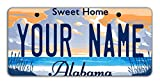 BleuReign Personalize Your Own Alabama State Bicycle Bike Stroller Children's Toy Car 3''x6'' License Plate Tag