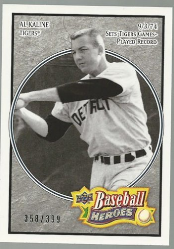 67 Charcoal (2008 Upper Deck Heroes Charcoal #67 Al Kaline /399 - NM-MT)