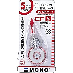 Tombow Correction Tape CT-CF5, Transperent Red Color , Pack 2 pcs.