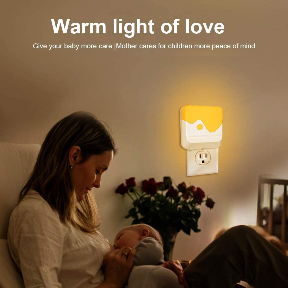 Stairs Warm 1636 Plug-in Night Light Bedroom Warm White LED Nightlight Bathroom Dusk-to-Dawn Sensor Kitchen Hallway