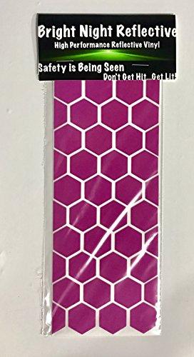 Pink Reflective Hexagon Decal sheet 3.25x7.75