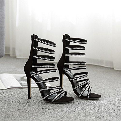 Donyyyy Tacones finos zapatos de tacón verano sandalias de dama Forty
