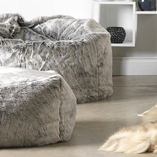 icon Ottowa Luxury Faux Fur Footsool - Square Bean Bag Pouffe - Buy Online  in UAE.  d83ad99423548