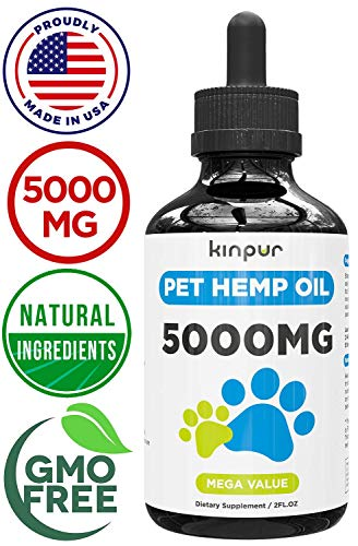Кinpur Organic Hemp Oil Extract for Dogs & Cats - 5000 Mg -...