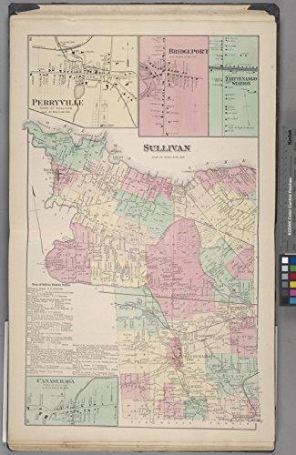 Map Poster - Canaseraga [Village]; Town of Sullivan Business Notices. ; Sullivan [Township]; Perryville [Village]; Bridgeport [Village 16