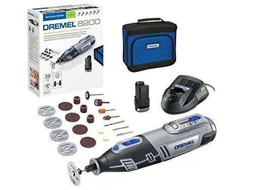 dremel f0138200jk 10 8 v 8200 20 lithium ion multi tool kit with 2 x 2 a batt ebay. Black Bedroom Furniture Sets. Home Design Ideas