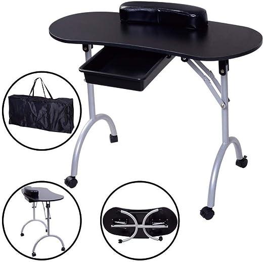 Manicura Portátil Y Plegable Mesa Para Uñas Mesa Para El Técnico ...
