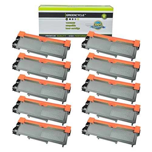 GREENCYCLE 10 PK High Yield Toner Cartridge Replacement for Brother TN660 TN630 Laserjet DCP-L2520DW HL-L2340DW HL-L2380DW Printer 10k High Yield Toner
