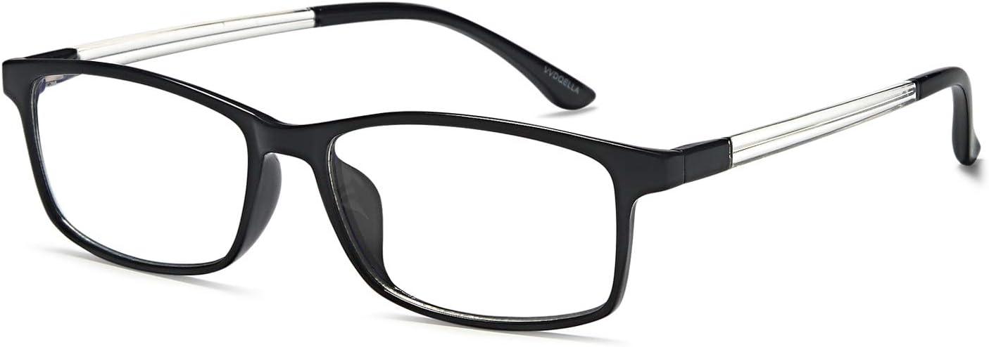 VVDQELLA Gafas Presbicia Hombre/Mujere Montura en TR90 Lentes Premium y Rectangular Anti Luz Azul Contra UV Gafas Lectura 1.25 para PC, Smartphone, TV, Ligeras y Durable