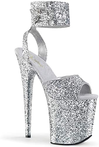 Pleaser FLAMINGO-891LG SLV Glitter/SLV Glitter UK 7 (EU 40)