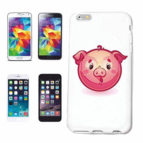"cas de téléphone iPhone 7S ""MIGNON Glücksschwein SMILEY ""SMILEYS SMILIES ANDROID IPHONE EMOTICONS IOS grin VISAGE EMOTICON APP"" Hard Case Cover Téléphone Covers Smart Cover pour Apple iPhone en blanc"