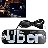 LED USB Sign Light, White Glow Sign Decal Stickers with Suction Cups Flashing Hook on Car Window with DC12V Car USB Socket: more info