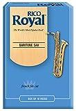 Rico Royal Baritone Sax Reeds, Strength 4.0, 10-pack