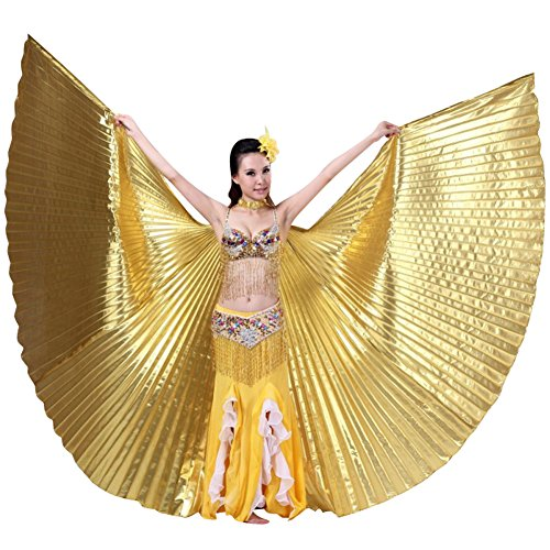 Easy Costumes Halloween Dance (Hip Shakers Exotic Belly Dance Colorful Belly Dance Big Isis Wings Halloween Costume Props)