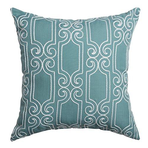 Softline Home Fashions 925BKR04738XPF Bexley Throw Pillow, Spa White by Softline Home Fashions Inc