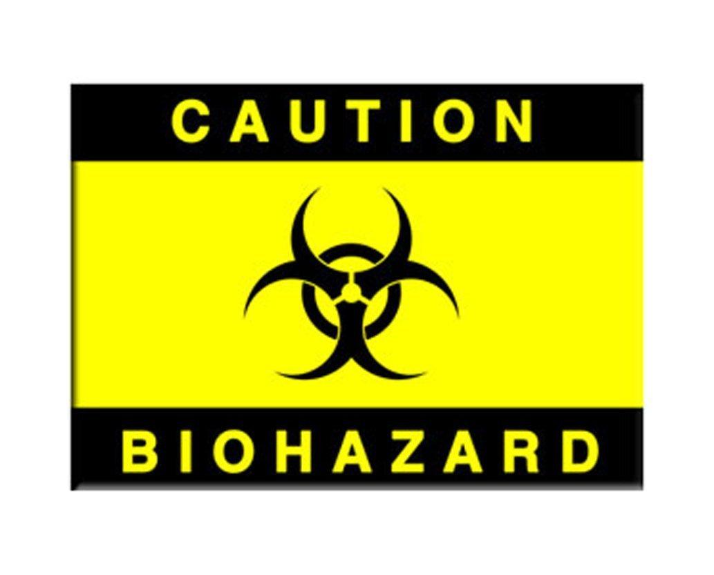 Amazon Caution Biohazard Symbol Warning Sign Refrigerator