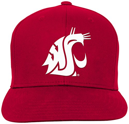 NCAA by Outerstuff NCAA Washington State Cougars Youth Boys Team Flat Visor Snapback Hat, Victory Red, Youth One ()