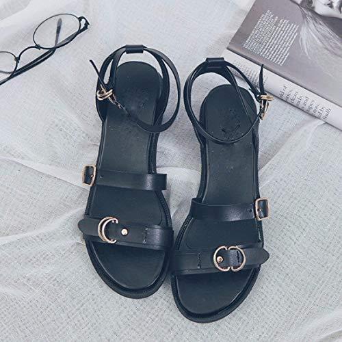 neuf Chaussures Talons Plat Kphy Trent Noir Plats Sandales Pour Talon Dames nAdxFqY6Fz
