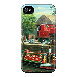 Faddish Phone Cadbury Canal Boat Case For Iphone 4/4s / Perfect Case Cover