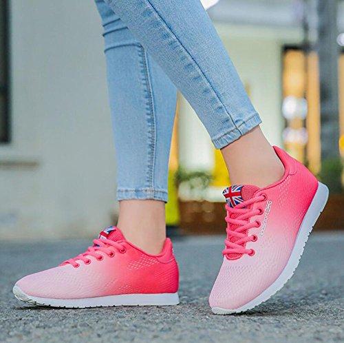Viaggio HUAN Un Scarpe Stringate Leggere Scarpe Autunno 37 Sneakers Dimensione da Scarpe Primavera Colore Piatte Traspiranti Knit da Donna Corsa da 7wq4r7BxF