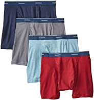 Fruit of the Loom Men's 4-Pack Low Rise Extra Leg Boxer B