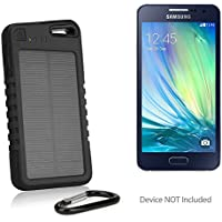 Samsung Galaxy A3 (2017) Battery, BoxWave [Solar Rejuva PowerPack (5000mAh)] Solar Powered Backup Power Bank for Samsung Galaxy A3 (2017) - Jet Black