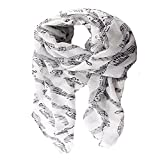 ctshow musical note Print Voile Print Scarf Fashionable Women Scarves shawl