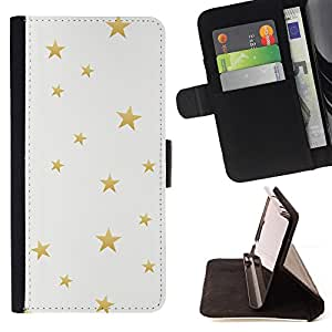 Jordan Colourful Shop - gold bling pattern white For Sony Xperia m55w Z3 Compact Mini - Leather Case Absorci???¡¯???€????€???????&bdq