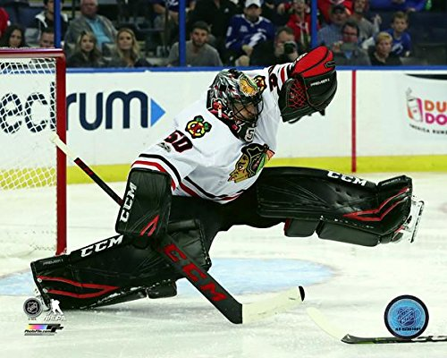 "Corey Crawford - Chicago Blackhawks 2017-18 NHL Action Photo (Size: 11"" x 14"")"