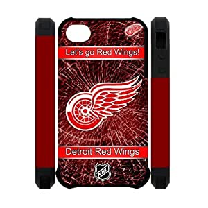 Creative NHL Detroit Red Wings Apple Iphone 4S/4 Case Cover Dual Protective Polymer Cases LOGO Tevery damn day
