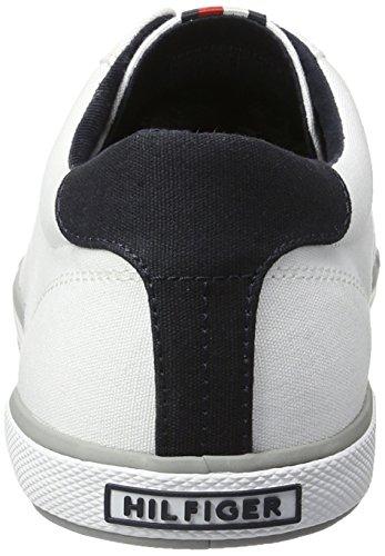 Tommy H2285arlow Blanc 1d Cass Sneaker Hilfiger Basses Homme aqaCwT