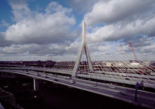 HistoricalFindings Photo: Leonard P. Zakim Bunker Hill Memorial Bridge,Boston,Masaschusetts,MA,America