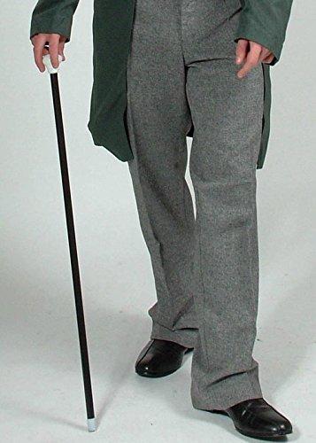 Victorian Gentleman Silver Ball Cane 1920/'S Walking Stick Gangster Fancy Dress