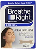 Breathe Right Nasal Strips, Large, Tan, 30 ct
