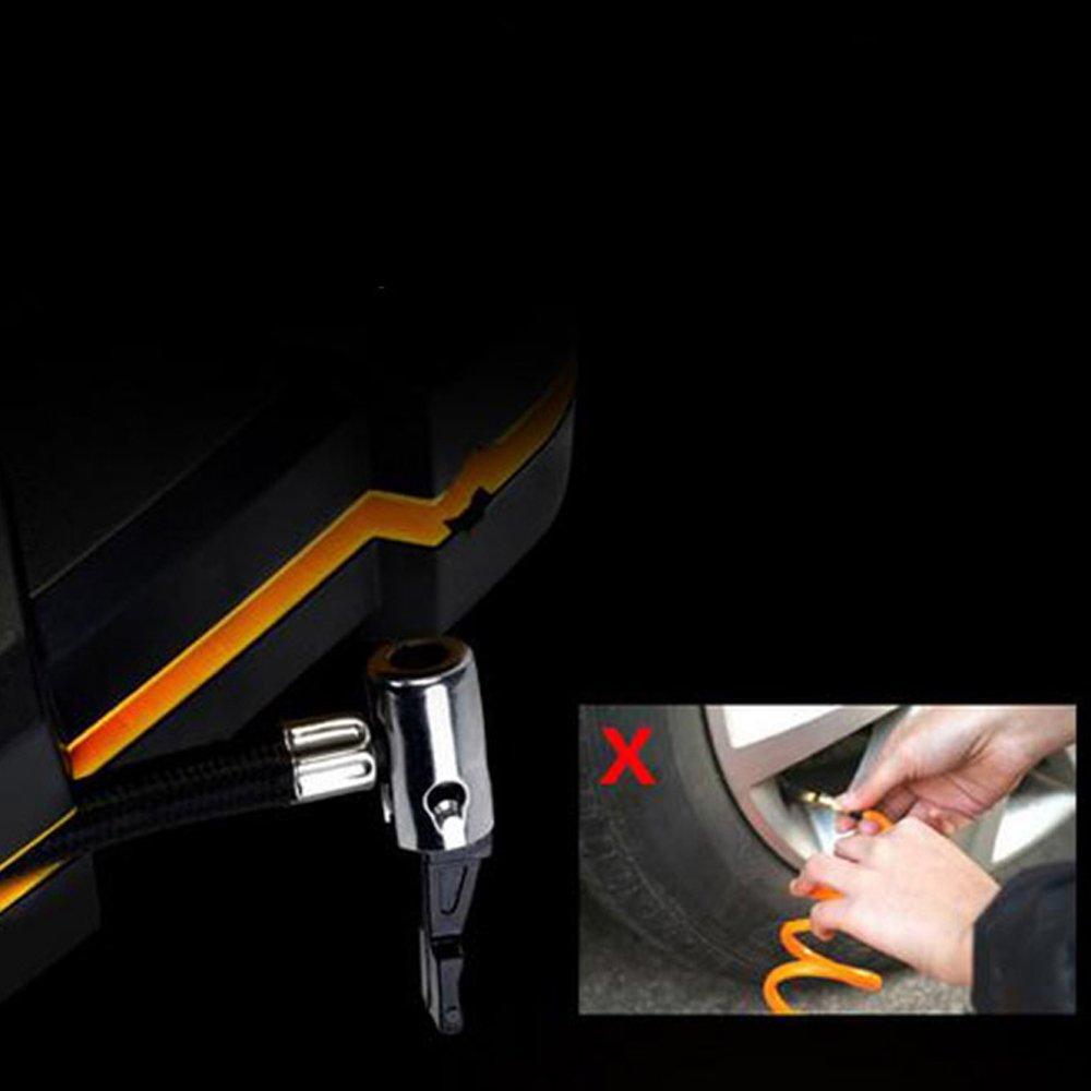 per Gonfiare Moto,Auto,Bicicletta ed Attrezzi Sportivi con Cavo di alimentazione da 3m KKmoon Compressore Aria Portatile Auto Mini Pompa Elettrica Ricaricabile con Schermo LCD 100psi DC12V 35L//min