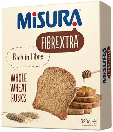 Misura Fibrextra Whole Wheat Biscuits 330g