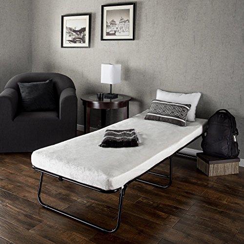 Zinus Traveler Elite Folding Guest Bed Frame with Comfort Foam Mattress