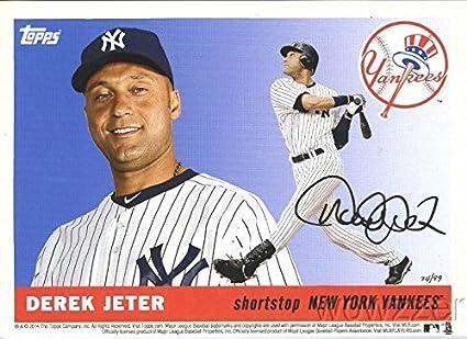 2014 Topps Yankees 5x7 1955 Design Derek Jeter Last Card