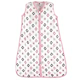 Hudson Baby Unisex Baby Safe Sleep Wearable Muslin Sleeping Bag, Girl Aztec 1-Pack, 6-12 Months