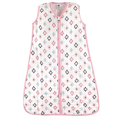 Hudson Baby Baby Wearable Safe muslin Sleeping Bag, Girl Aztec, 12-18 (Baby Sleeping Bag)